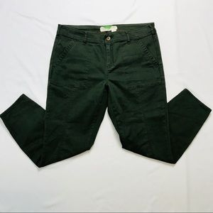 Anthro Forest Green Outdoors Skinny Ankle Pants 31